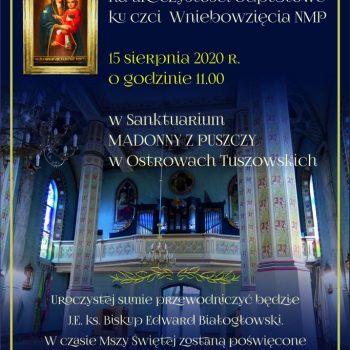 Odpust w Sanktuarium Madonny z Puszczy w Ostrowach Tuszowskich