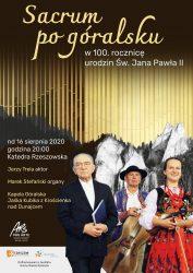 """""""Sacrum po góralsku"""". Koncert w katedrze w setną rocznicę urodzin św. Jana Pawła II"""