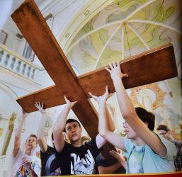 Symbole Światowych Dni Młodzieży w Jaśle i Rzeszowie